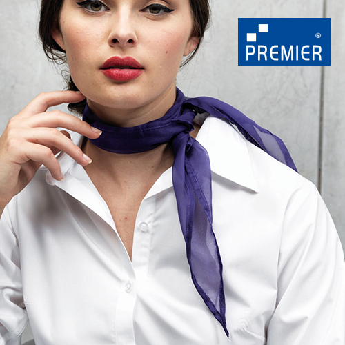 PW740 - Womens Colour Chiffon Scarf (Premier Workwear)