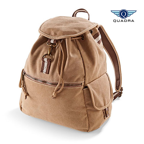 QD612 - Vintage Canvas Backpack