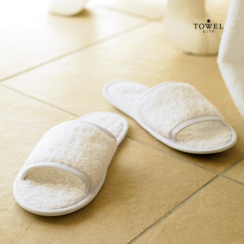 TC64 - Classic Terry Slippers - Open Toe von Towel City