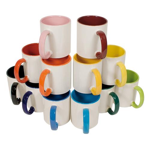 TWO_TONES - Keramiktasse farbig
