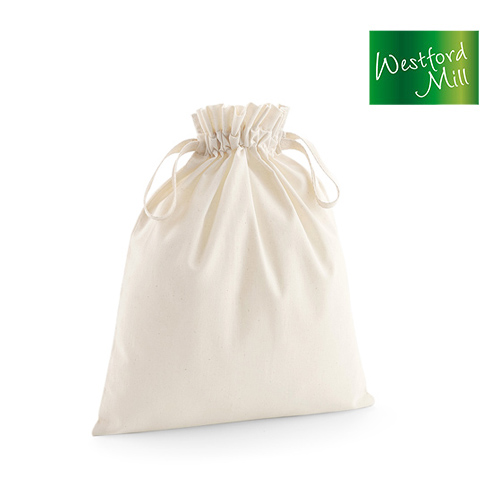 WM118M - Organic Cotton Draw Cord Bag M