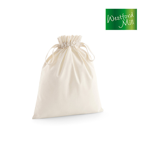 WM118S - Organic Cotton Draw Cord Bag S