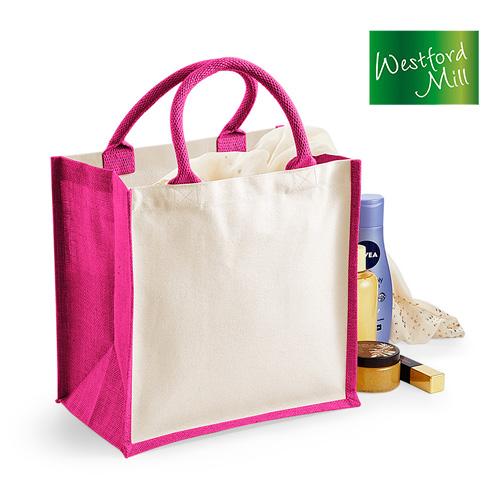 WM421 - Einkaufstasche Jute Tasche farbig 14 l