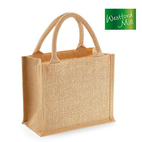 WM431 - Shimmer Jute Mini Gift Bag