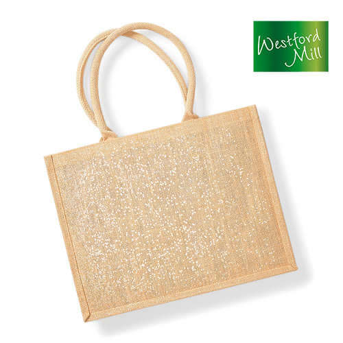 Shimmer Jute Shopper - WM437