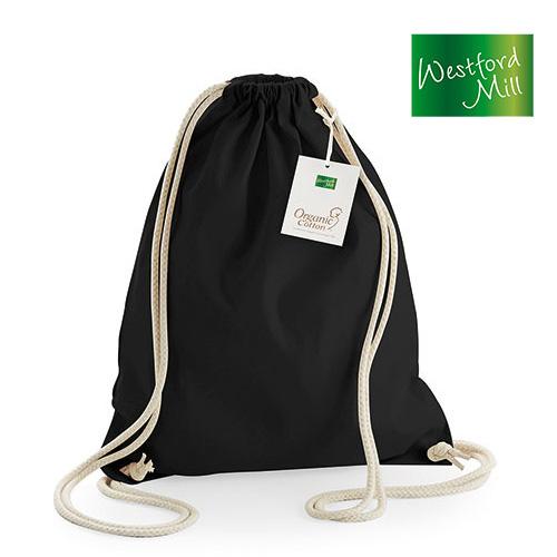 WM810 - Turnbeutel Rucksack aus organischer Baumwolle farbig