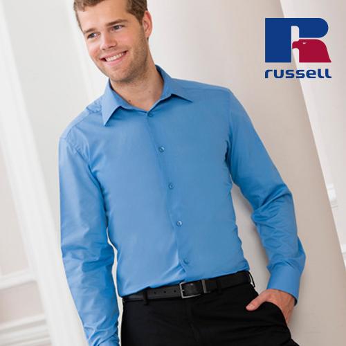 Z924 - Men`s Long Sleeve Tailored Polycotton Poplin Shirt