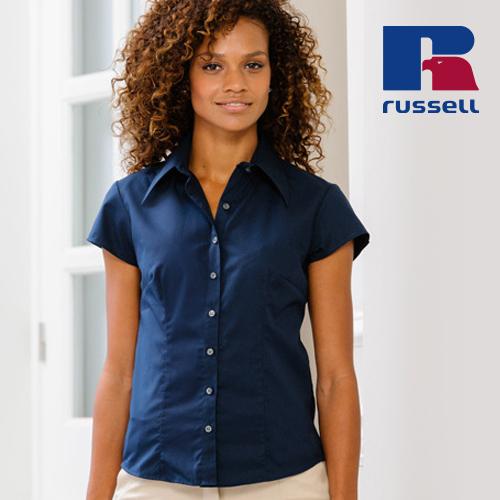 Z955F - Körperbetontes kurzärmeliges Hemd aus Tencel®