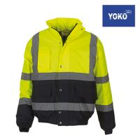 HVP218 - High Visibility Two-Tone Bomber Jacket - YOKO