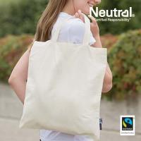 NE90004_N - Fairtrade Jutebeutel mit kurzen Henkeln natur