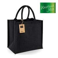 WM413_S - Tragetasche Tote Bag schwarz 14 l
