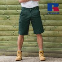 Z002 - Workwear-Shorts aus Polyester-/Baumwoll-Twill (Russell)